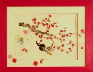 Le printemps - Petit Chat&Papilon 2 / Origami