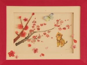 Le printemps - Petit Chat&Papilon 1 / Origami